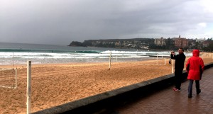Rainy cold day in Manly , but a flat swimming track June 2015