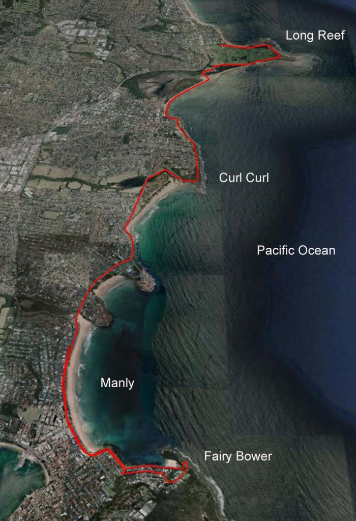 Long Reef to Manly and beyond. A 13.5km hit out carrying 12kg.
