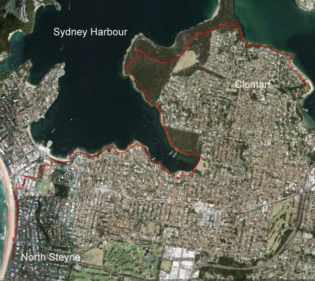 Manly to Clontarf and return. 17 km on a sparkling Sydney day.