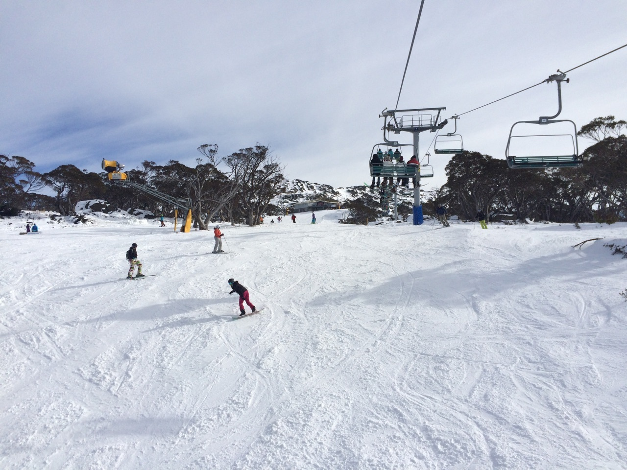 Front mountain Perisher Valley. First day of 2015 season. My friend Phil Thomas sent me this photo just to make me feel bad.