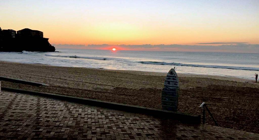 Sunday sunrise at Queenscliff. 7am mid winter
