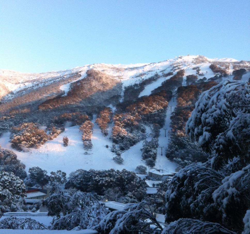 Thredbo under deep snow -cover - July 2015