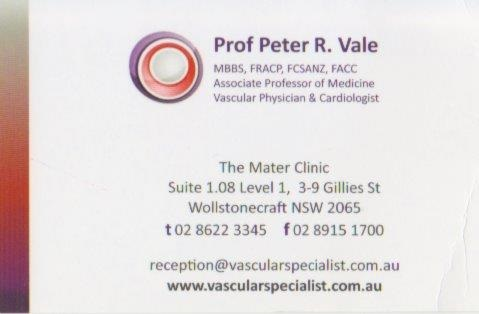 My vein guy. A good bloke and a good doctor too.