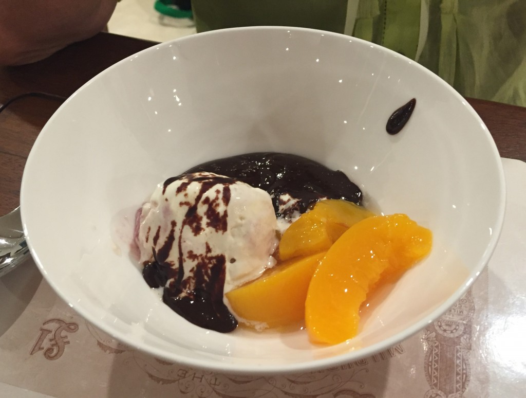 The pudding - I was responsible for the ice cream and the peaches